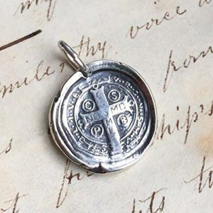 St Benedict Cross Wax Seal Necklace