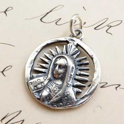 Our Lady Of Guadalupe Mexican Centavo Medal