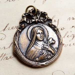 Bronze St Therese Of Lisieux Medal