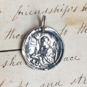 St Cecilia Wax Seal Medal
