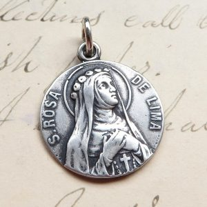 Small Sterling Silver St Rita Medal
