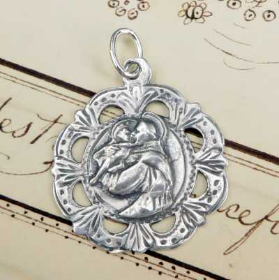 Etched St Anthony Medal