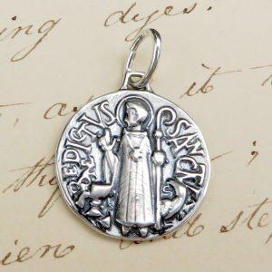 Art Deco St Benedict Medal