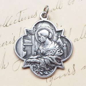 Beautiful St Cecilia Medal