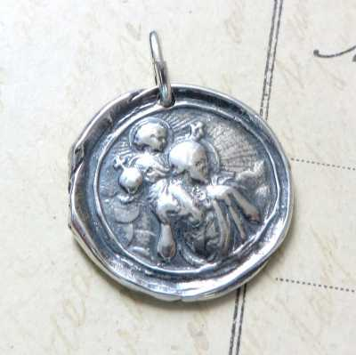 St Christopher Wax Seal Medal