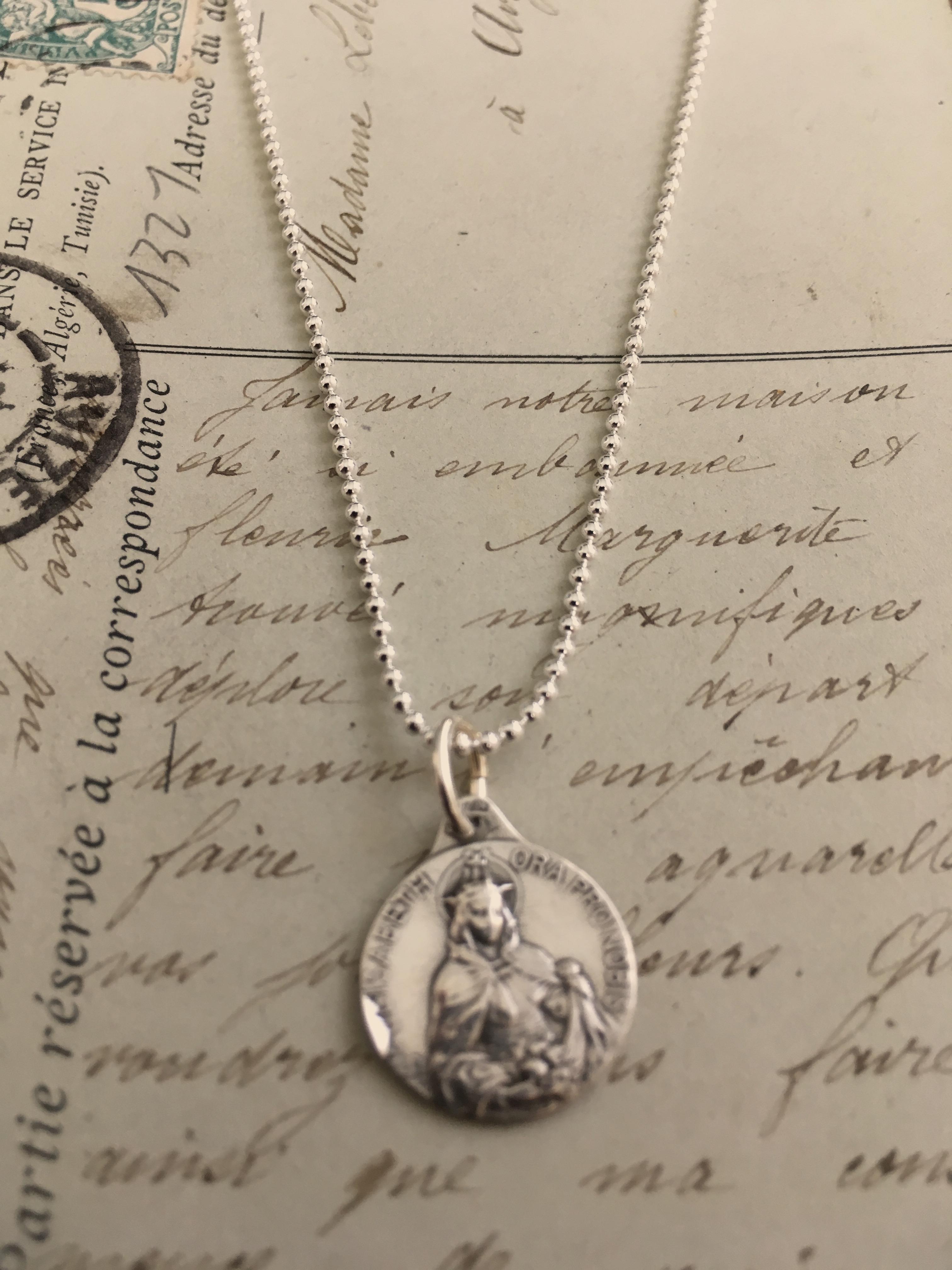 Elizabeth of Hungary Pendant DiamondJewelryNY Sterling Silver St