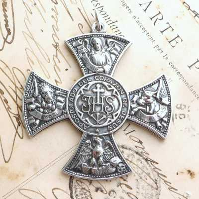 Sterling Silver Four Gospels Cross