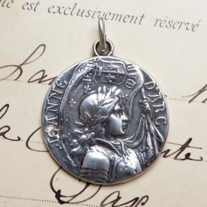 St Joan Of Arc Battle Flag Medal
