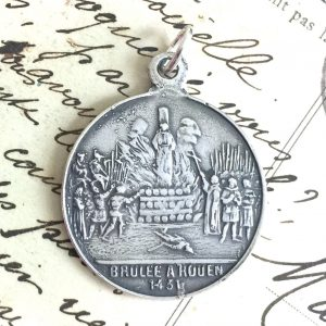 Sterling Joan Of Arc On Horseback Medal