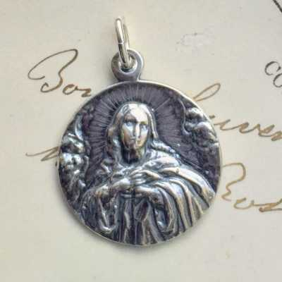 Virgin Mary With Angels Medal