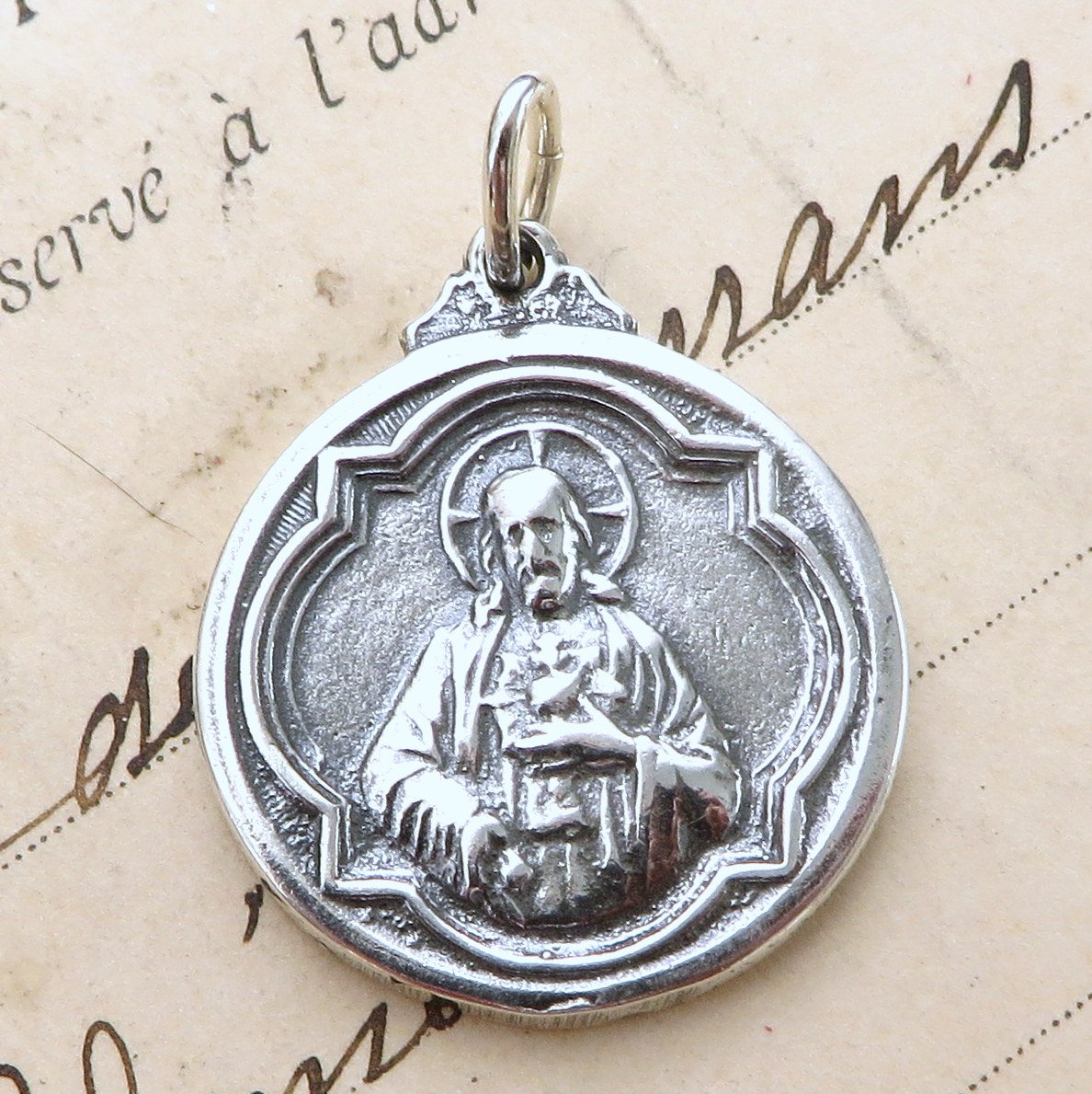 Sterling Silver Sacred Heart Of Jesus