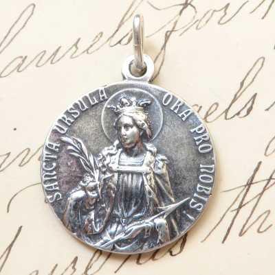 Sterling Silver St Ursula Medal
