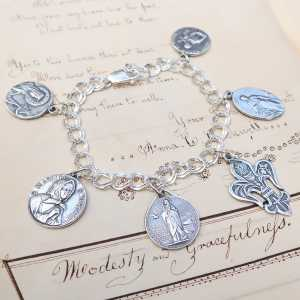 Sterling Silver Charm Bracelet Chain Only