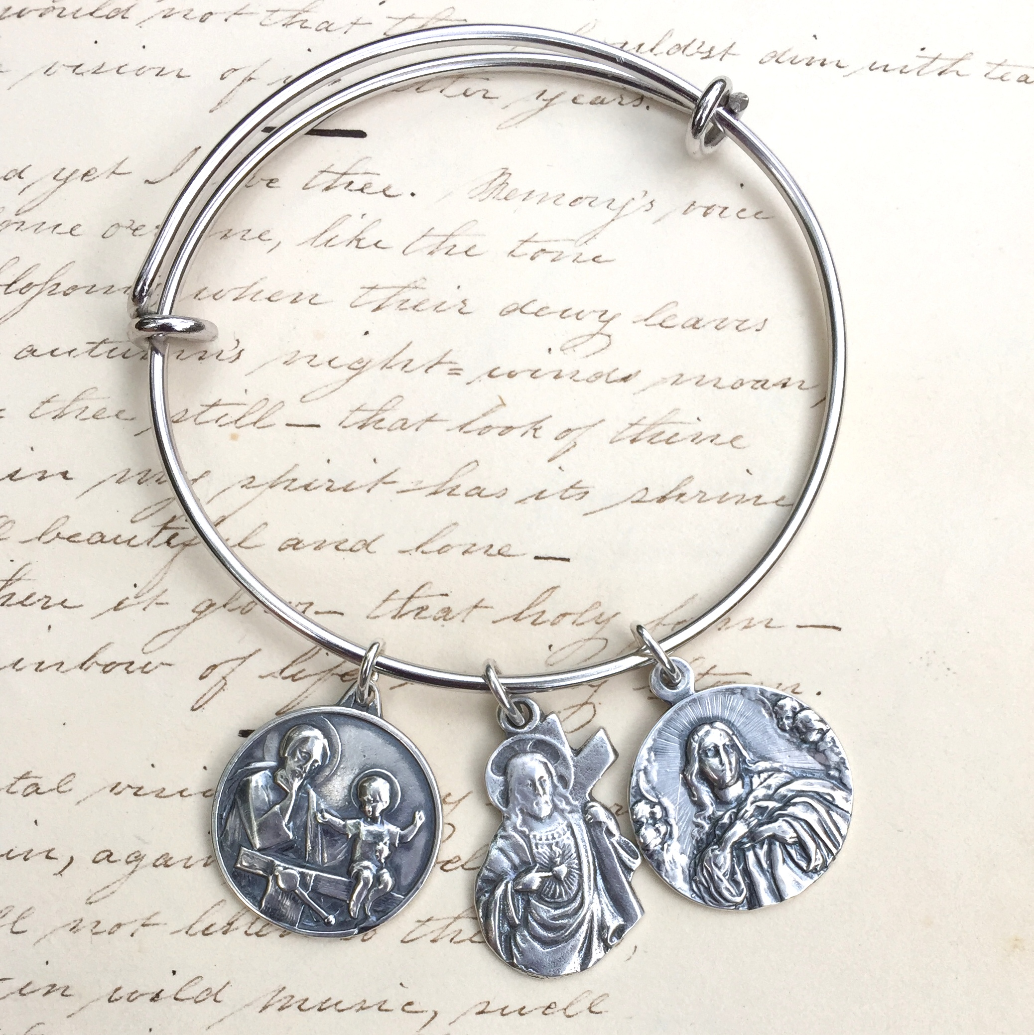 Mother's Gift Special – Holy Family Bangle Bracelet