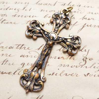 Bronze Victorian Crucifix
