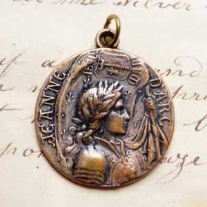 Bronze St Joan of Arc Battle Flag Medal
