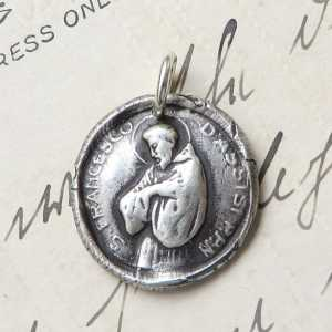 St Francis of Assisi Wax Seal Medal