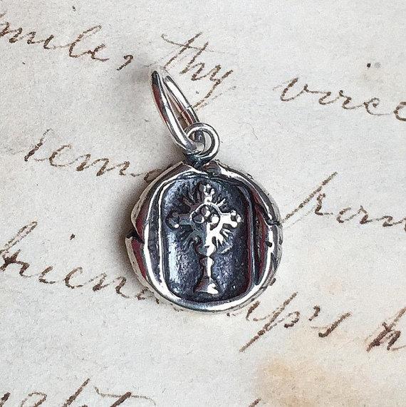 Radiant Cross Wax Seal Medal