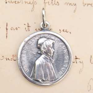 St Elizabeth Seton Medal with Raised Border