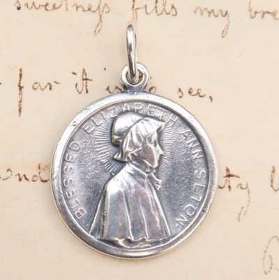 St Elizabeth Seton Medal with Raised Border