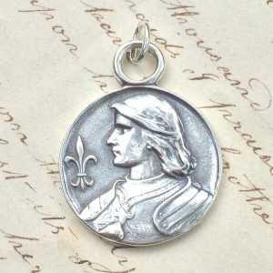 St Joan of Arc Fleur-de-Lys Medal