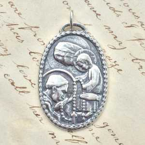 St Dominic with the Virgin Mary Medal