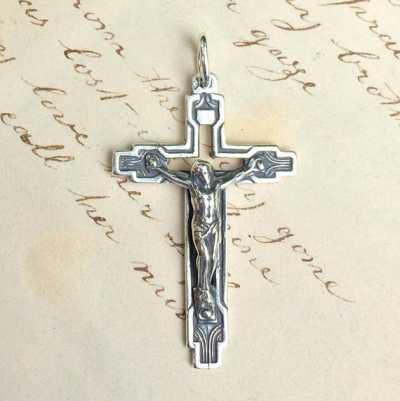 Crucifix Art Deco Style