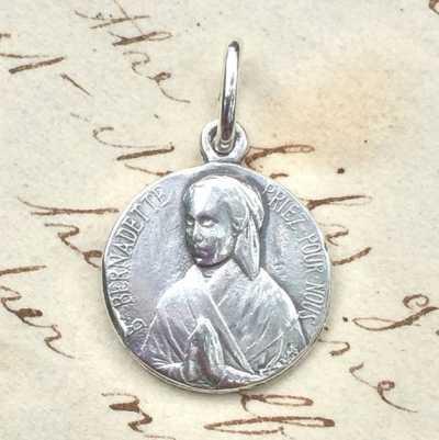 St Bernadette as a Young Girl Medal
