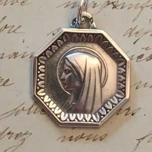 Virgin Mary Octagonal Medal