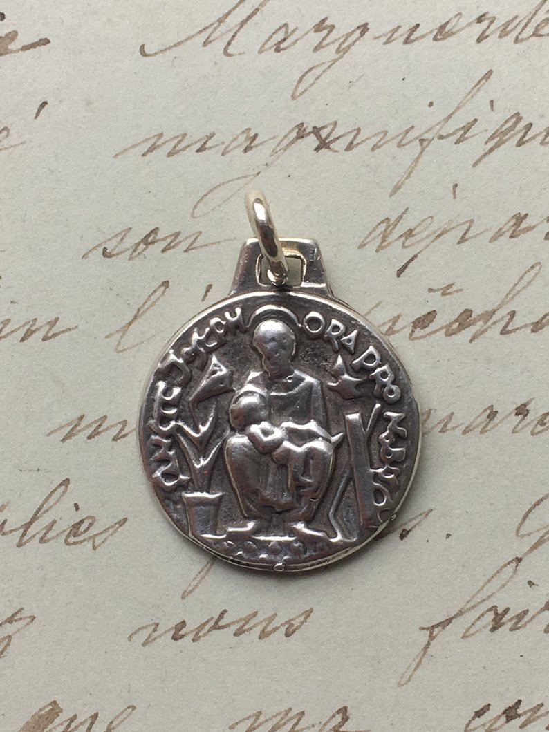 Antique Reproduction Patron of Librarians St Jerome Medal